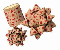 Mock Kraft Effect Christmas Tree Gift Bow / Ribbon Spool (select colour)