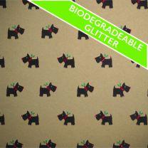 FestivEco Bio Glitter Scottie Dog