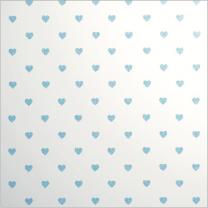 Glitter Les Petits Mini Heart Blue on White