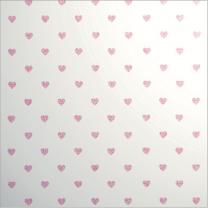 Glitter Les Petits Mini Heart Pink on White