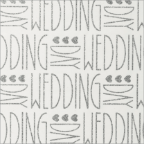 Glitter With Love Deco Wedding Silver on White
