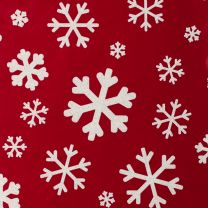 Christmassy Modern Snowflake White on Red