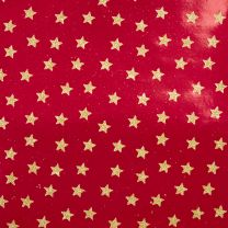 Brocade Mini Star Gold on Red Foil
