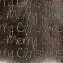 Golden Christmas Merry Christmas Script Sand on Rose Gold