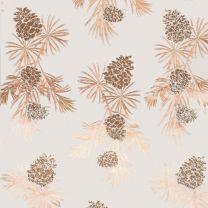 Golden Christmas Pine Cones Sand on Alabaster