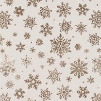 Golden Christmas Delicate Snowflake Sand on Alabaster