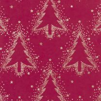 Winter Forest Dotty Tree Sand on Cranberry