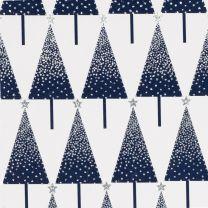 Christmas Sparkle Dotty Tree Silver/Navy on White