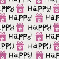 Glitter Modern Icons Happy Script Neon Pink