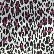 Glitterati Pink Mini Leopard Pink On Alabaster