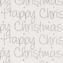 Finlandia Christmas Script Silver on White