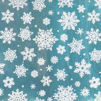Finlandia Delicate Snowflake Silver on Ice Blue