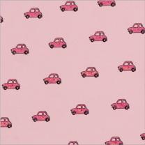 Glitter Ditsy Mini Car Iri Pink On Lt Pink