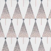 Winter Wonderland Ombre Tree Silver/Blush on White