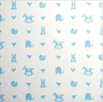 Printed Les Petits Baby Icons Blue