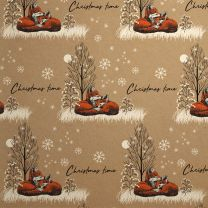 Wild Winter Foxes on Kraft