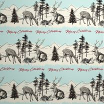 Wild Winter Highland Scene on White Kraft