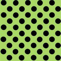 Fun Eco Black Spot on Bright Green