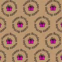 Fun Eco Pink Circle HB Present on Kraft