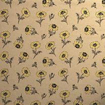 Printed Kraft Botanical Daisy Yellow