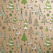 Doodles Christmas Green Trees