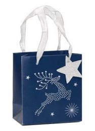 Glitter Gift Bag Christmas Sparkle Small (Unit of 6)