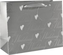 Glitter Gift Bag Wedding Medium (pack of 6)