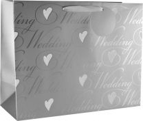 Glitter gift Bag Wedding Large (pack of 6)