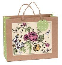 Printed Gift Bag Botanical Floral Large (pack of 6)