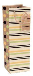 Printed Gift Bag Botanical Stripe Bottle (pack of 6)