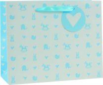 Printed Baby Bag Landscape Medium Baby Blue (pack of 6)