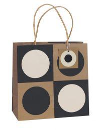 Printed Gift Bag Geo Kraft - Medium (Unit of 6)