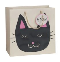 Printed Gift Bag Earthday Cat - Large (Unit of 6)