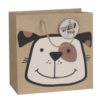 Printed Gift Bag Earthday Dog - Large (Unit of 6)