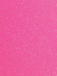 Neon Pink Glitter Gift Tag