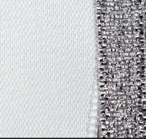Silver & White Duo Ribbon