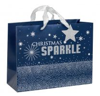 Glitter Gift Bag Christmas Sparkle Large (Unit of 6)